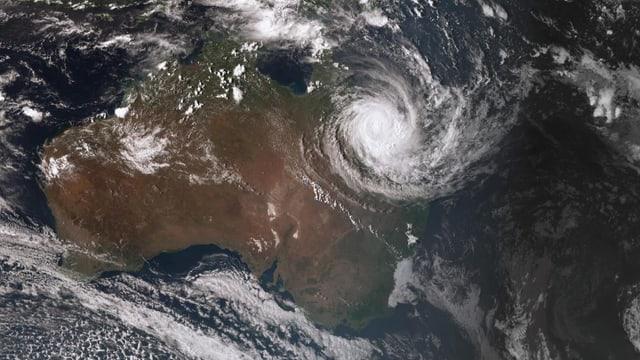 Satellitenbild von Zyklon «Debbie»