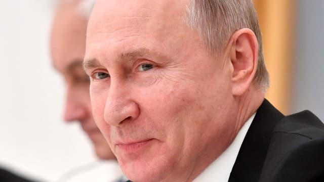 Nahaufnahme Putin.