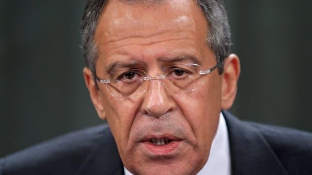 Purtret dal minister da l'exteriur russ Sergej Lawrow.