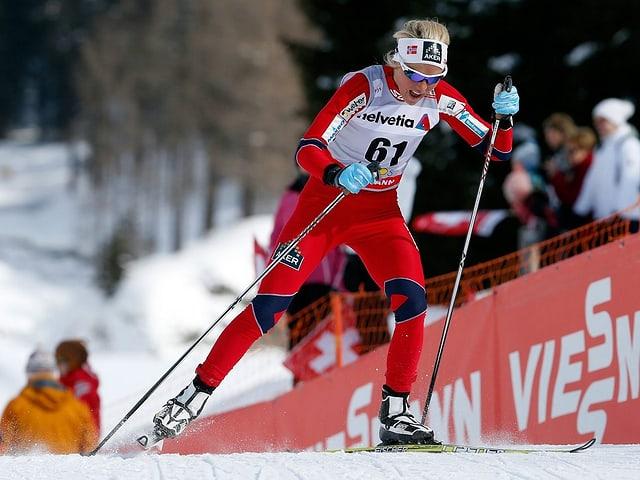 Therese Johaug überzeugte in Davos.
