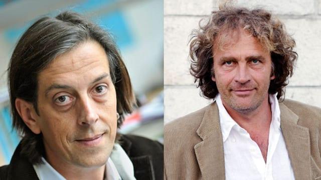 Portraits von Pedro Lenz und Alex Capus.
