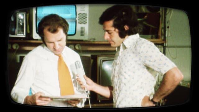 Roger Schawinski interviewt 1974 Verantwortlichen eines TV-Fachgeschäfts.
