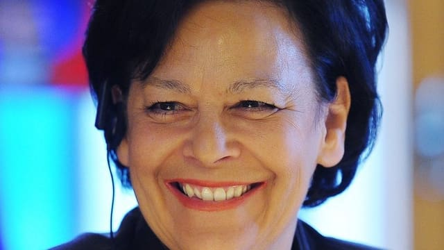 Die Zürcher Finanzdirektorin Ursula Gut ist zu Beginn der Budget-Debatte gut gelaunt
