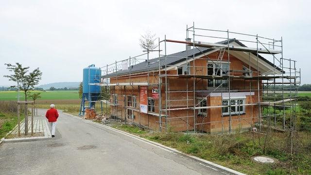 Einfamilienhaus im Bau