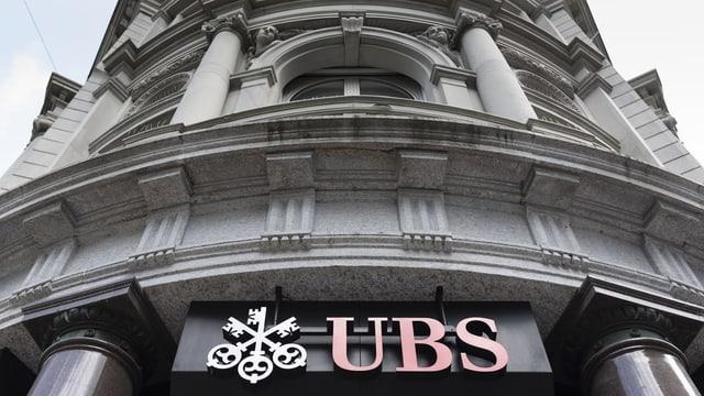 Bajetg cun logo da la UBS.