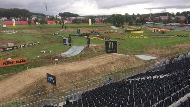 Die Piste des Motocross-Grand-Prix in Frauenfeld