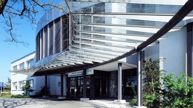 Der Eingang der Müller Martini in Felben-Wellhausen.