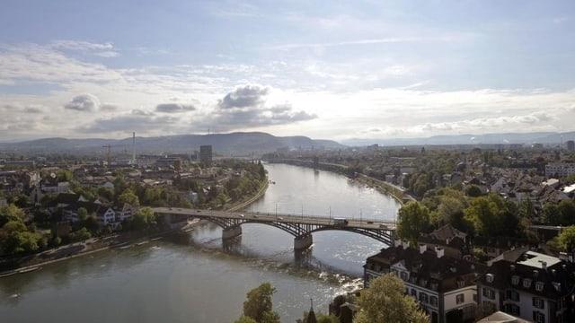 Stadtansicht mit dem Rhein und der Wettsteinbrücke