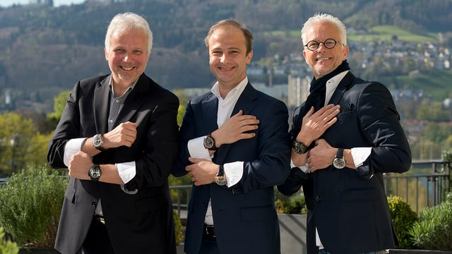 Die drei Gründer von Hyt.