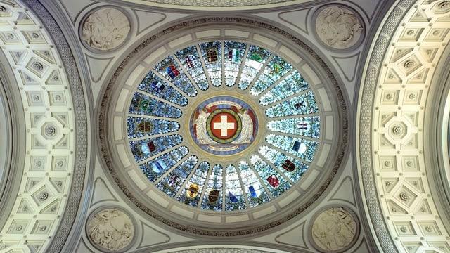 Kuppel im Bundeshaus.