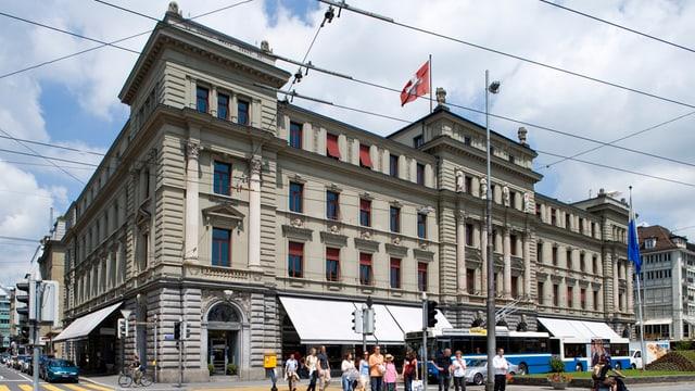 Ein Haus am Schweizerhofquai in Luzern.