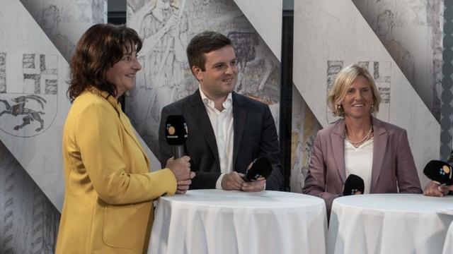 Ils victurs dal di: Anna Giacometti, Jon Pult e Sandra Locher Benguerel