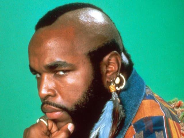 Der amerikanische Schauspieler «Mr. T» alias «B.A. Barachus» aus der TV-Serie «The A-Team» aus den 80er Jahren.