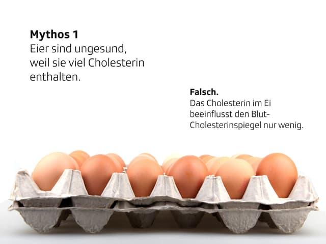 Eier in Eierschachteln.