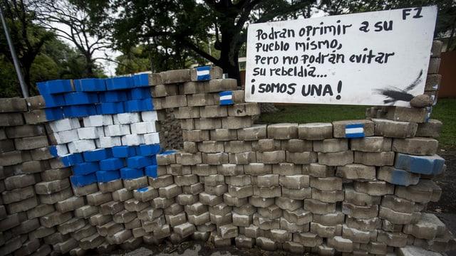 Strassenblockade in Nicaragua