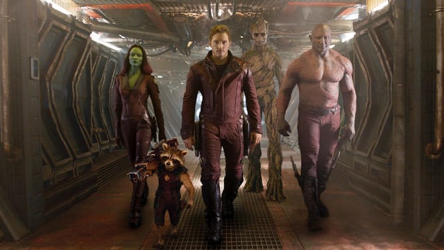 Chris Pratt und sein Team aus Guardians of the Galaxy