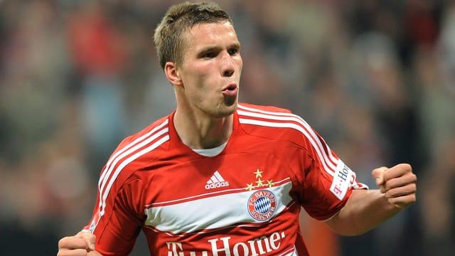 Lukas Podolski trifft im CL-Achtelfinal auf seinen Ex-Klub Bayern München.
