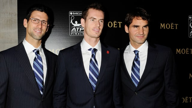 Djokovic, Murray und Federer