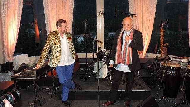 Christian Jott Jenny e Rolf Sachs ils organisaturs dal festival da jazz.