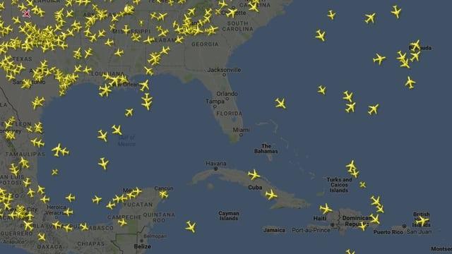 Im Moment fliegt kein einziges Flugzeug über Florida.