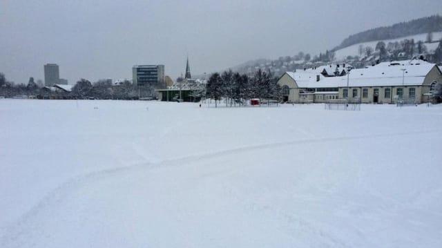 Langlauf-Loipe in der Stadt St. Gallen