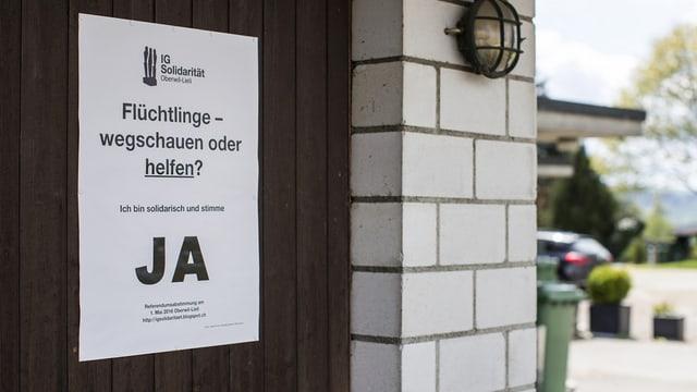 La votaziun ad Oberwil-Lieli ha mussà: Il vitg è dividì davart la politica d'asil.
