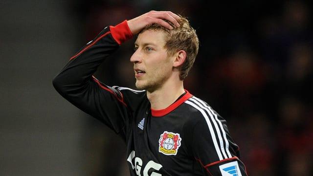 Leverkusens Stefan Kiessling nach der Niederlage gegen Frankfurt.