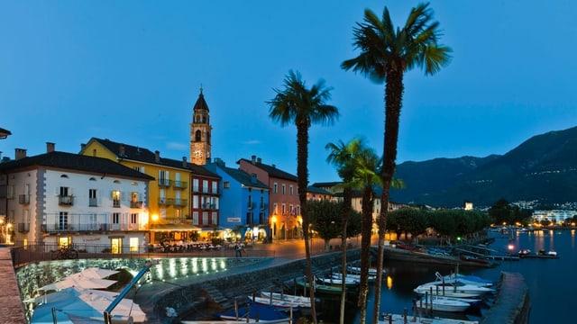 Hafen eines Tessiner Ortes