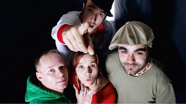 Die Hip-Hop-Pioniere der frühen 90er-Jahre, v.l.n.r.: Just One, Deborah, Carlos, Bio.