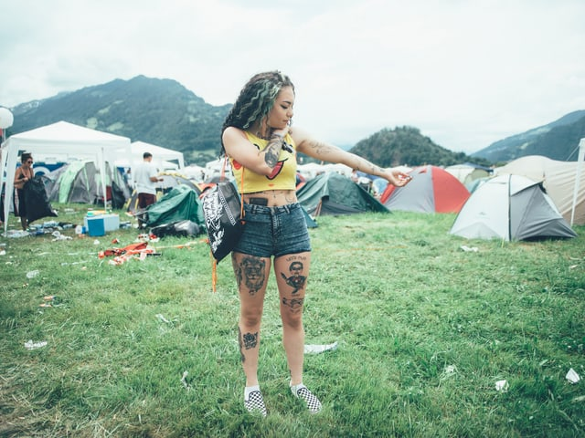 Festivalbesucherin