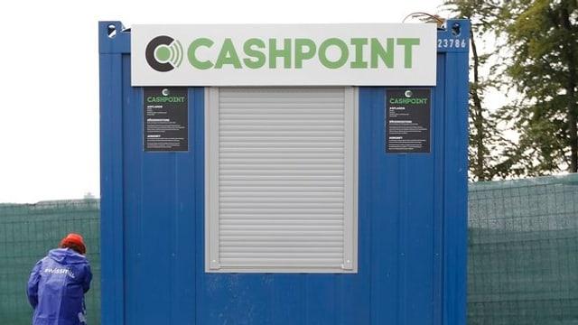 Geschlossener Cashpoint am Gurtenfestival.