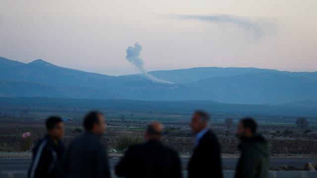 Rauch über der Region Afrin