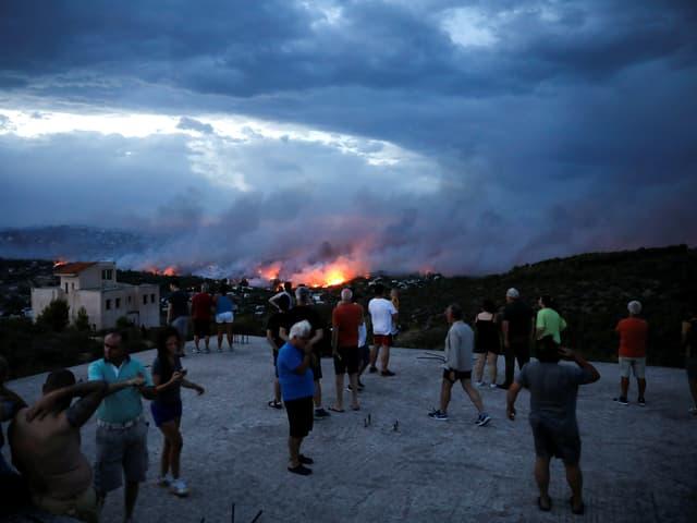 Von den Waldbränden betroffen ist die Region um die Hauptstadt Athen.