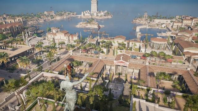 Alexandria von einem hohen Punkt aus, mit Meersicht