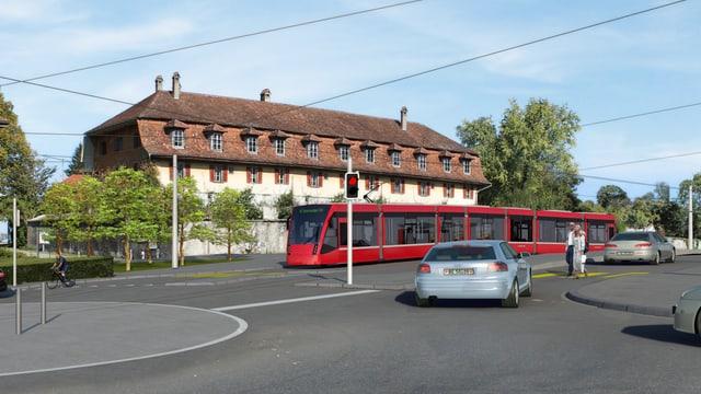 Tram Region Bern, Visualisierung in Köniz: Nun eine Sache einer Kerngruppe