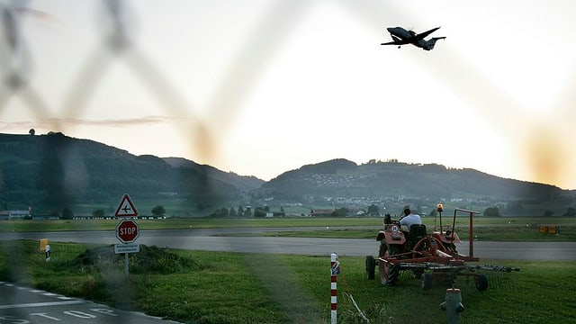 Anflug auf den Flugplatz Bern-Belp.