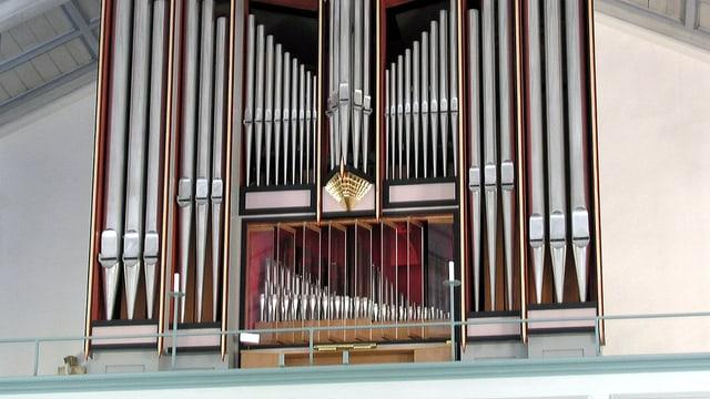 Nahaufnahme der Orgel in der Sturkö Kirche, Schweden.