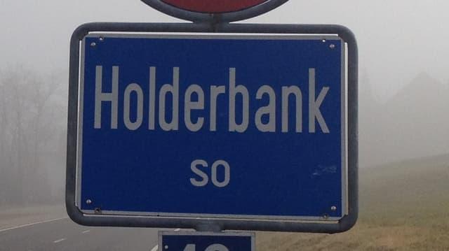 Ortsschild von Holderbank.