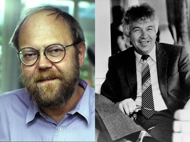 Die Schaffer der Schnabelweid, Christian Schmid-Cadalbert (links) und Rudolf Stalder.