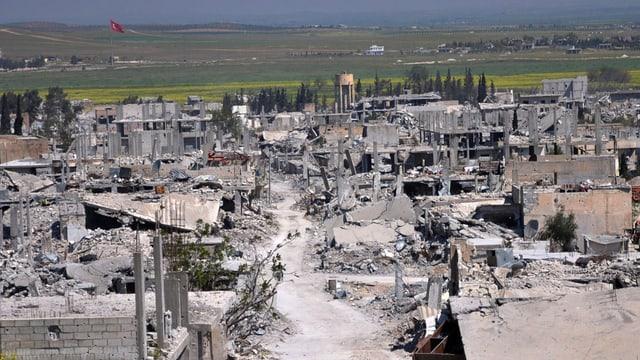 In lieu destruì en la Siria.