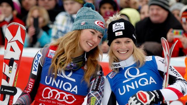 Mikaela Shiffrin (l.) und Marlies Schild.