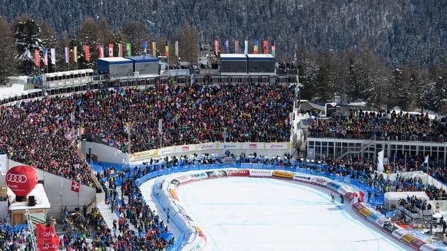 Tribüne Ski WM St. Moritz