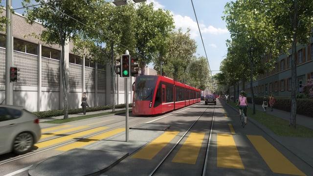 Visualisierung: Tram fährt