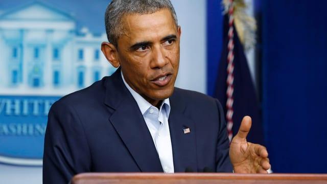 Barack Obama bei einer Rede im Weissen Haus