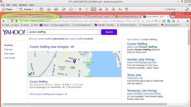Ein Screenshot, auf dem man sieht, das sich der amerikanische Politiker Mike Webb für Pornos interessiert.