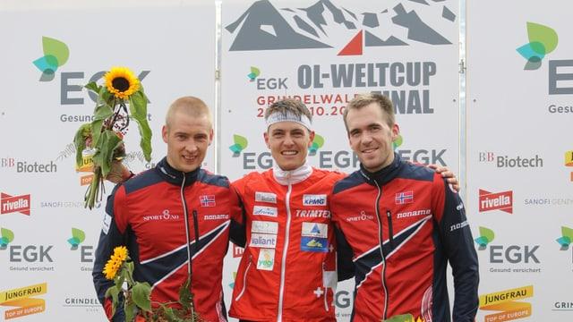 Matthias Kyburz gewann vor den Norwegern Olav Lundanes und Magne Daehli.