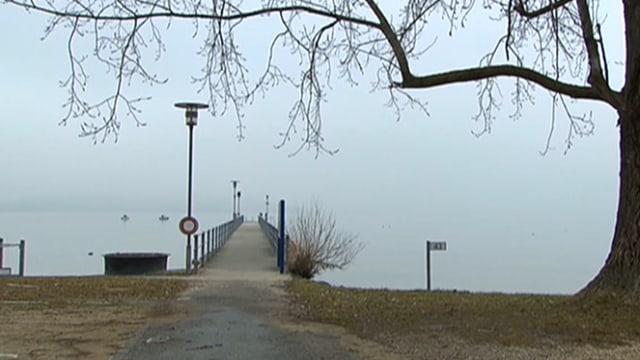 Ein Bootssteg am Bielersee