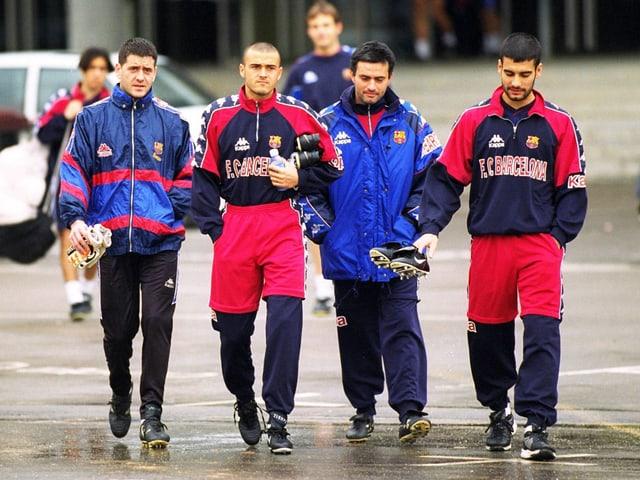 Guardiola und Mourinho 1997