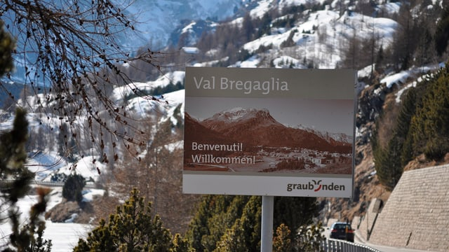 Tavla turistica Val Bregaglia