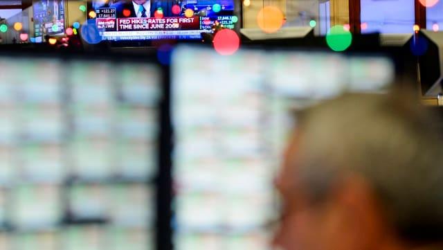Bildschirme im New York Stock Exchange.